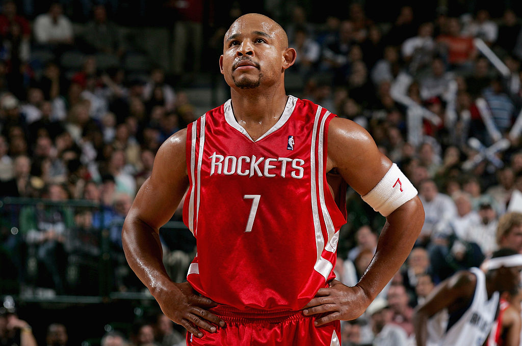 David Wesley #7 of the Houston Rockets