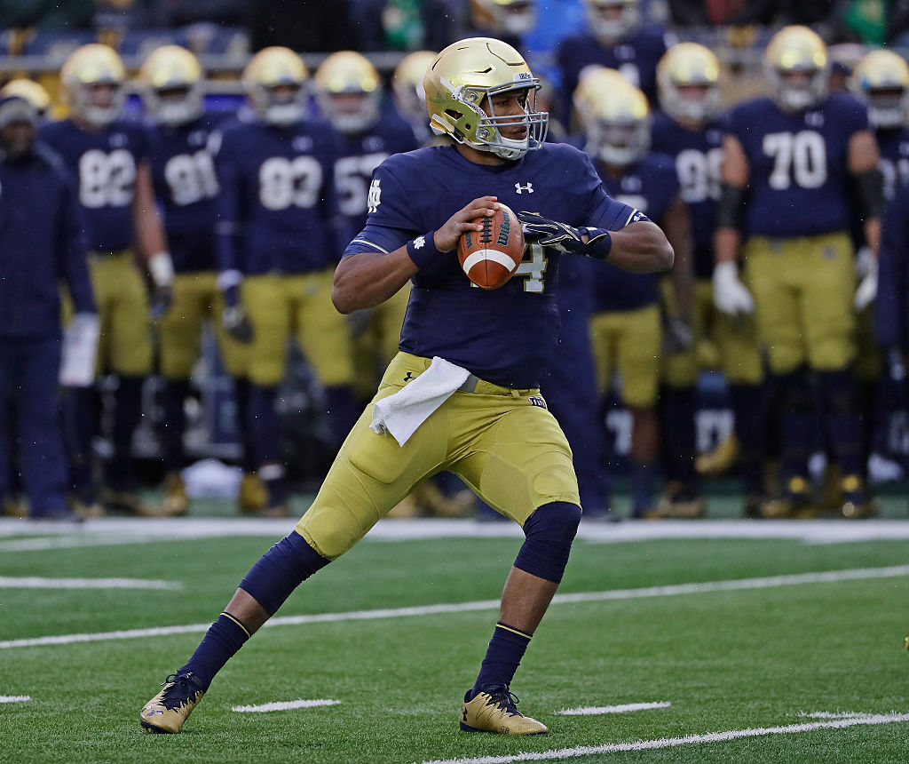 DeShone Kizer #14 of the Notre Dame
