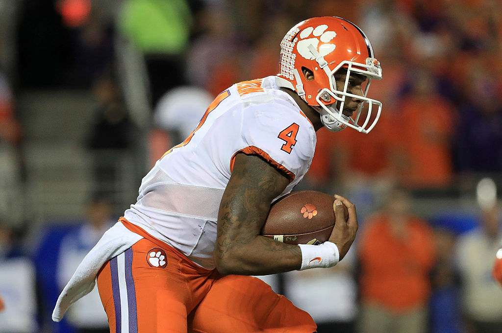 Deshaun Watson #4 of the Clemson Tigers