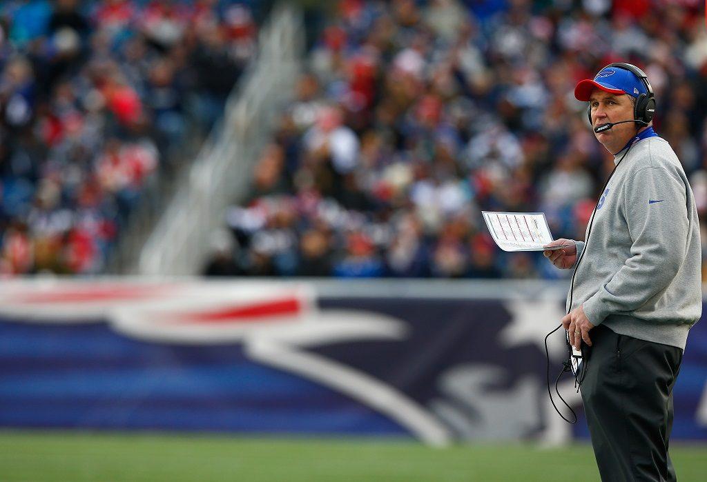 Head coach Doug Marrone of the Buffalo Bills looks on during a game