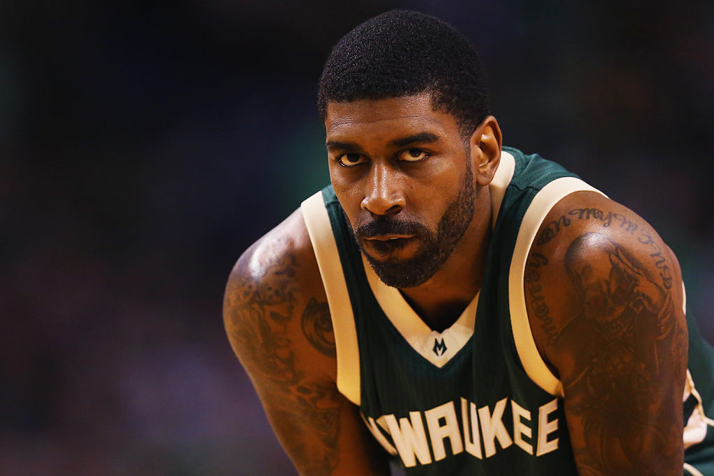 O.J. Mayo of the Milwaukee Bucks looks on during the third quarter against the Boston Celtics.