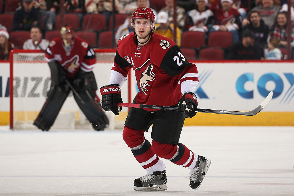Oliver Ekman-Larsson of the Arizona Coyotes in action.