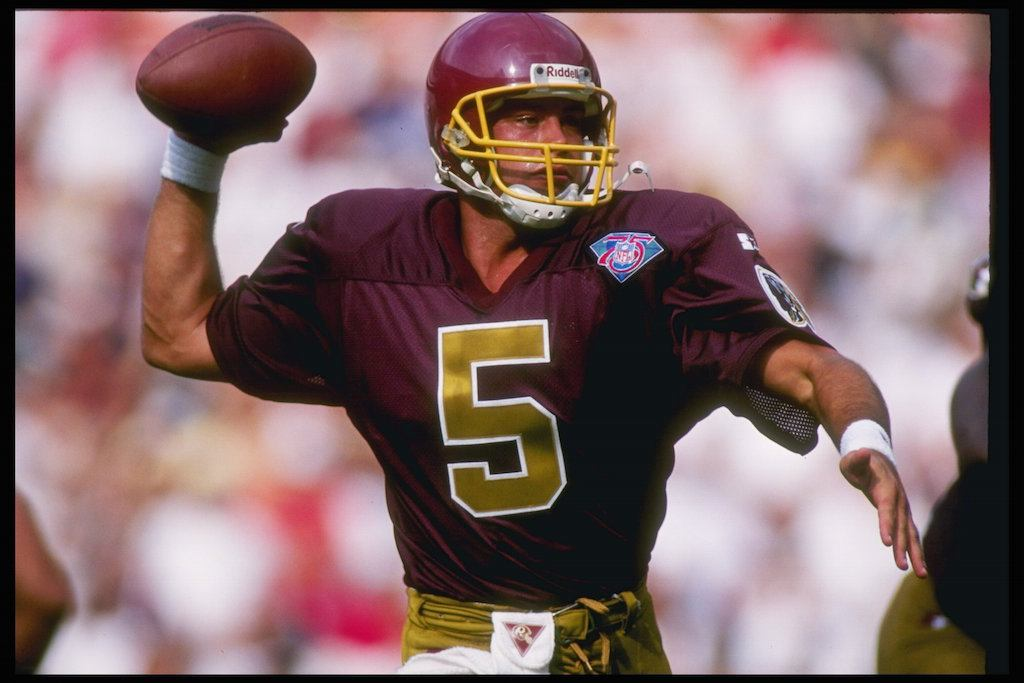 Heath Shuler looks for a target.