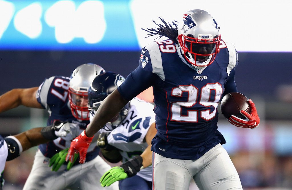 LeGarrette Blount continues to run with purpose.