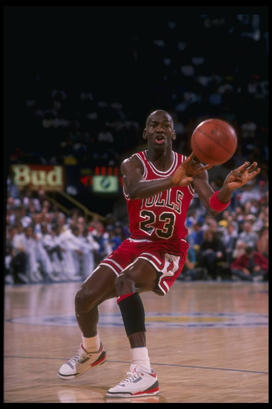 huge discount 721f0 6dcff Michael Jordan in his No. 23 Chicago Bulls jersey