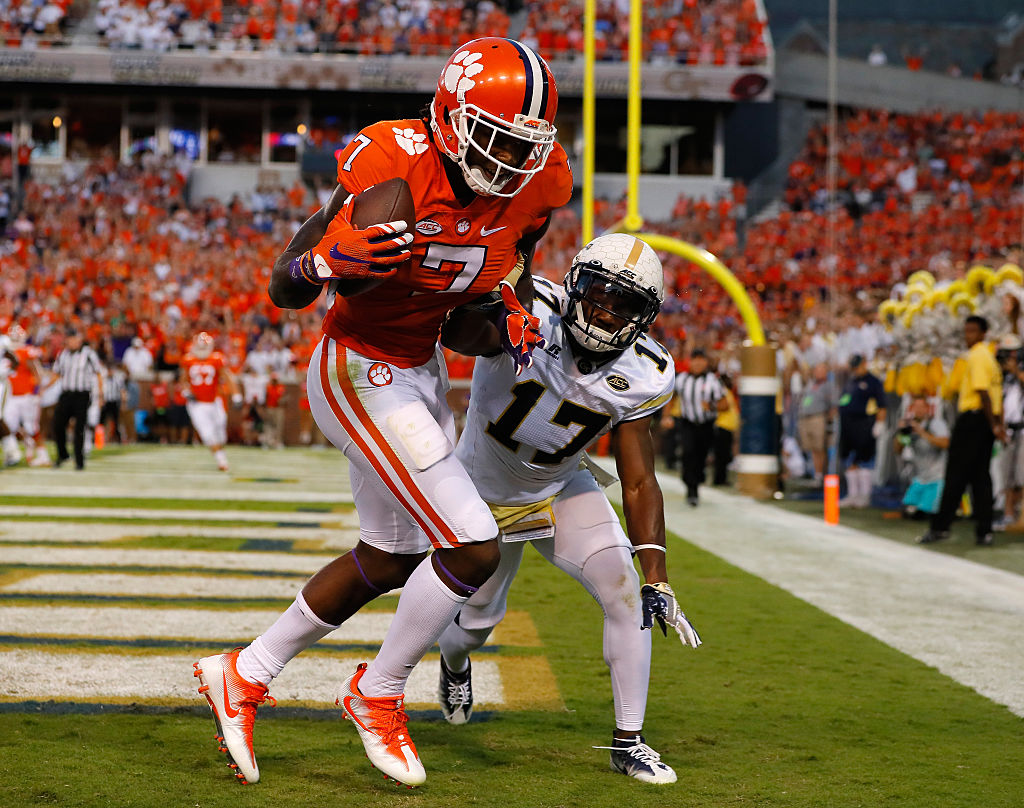 Mike Williams of the Clemson Tigers
