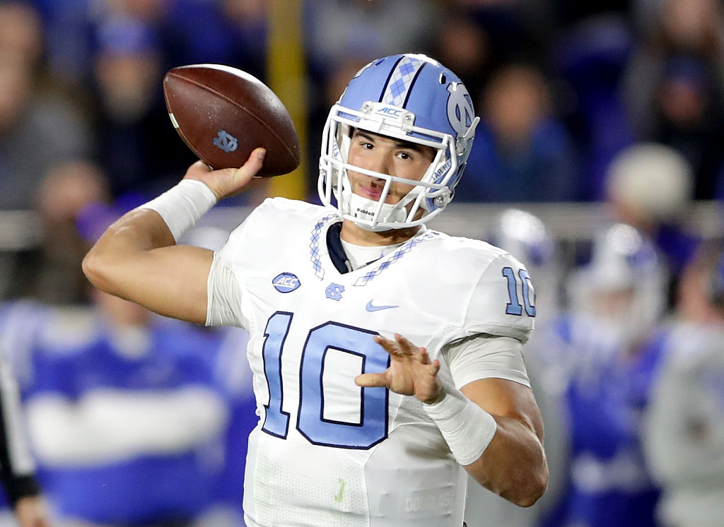 Mitch Trubisky of the North Carolina Tar Heels