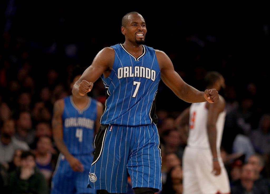 Serge Ibaka watches the action.