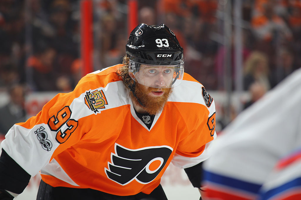 Between plays, Jakub Voracek thinks about the fact that he has one of the most expensive NHL contracts.