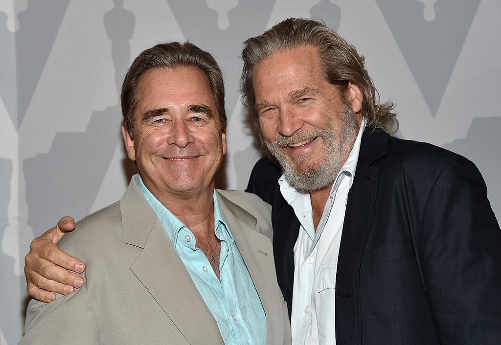 Actors Beau Bridges (L) and Jeff Bridges attend a Academy of Motion Picture Arts & Sciences event.