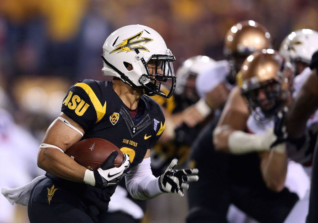 Arizona State's D.J. Foster grips the ball and runs like hell.