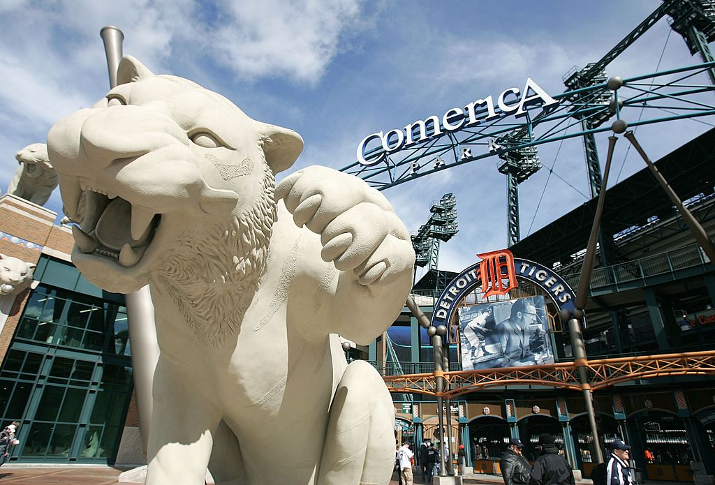 A general of the exterior of Comerica Park is seen prior to the start of Game Four of the American League Championship SeriesJonathan Daniel/Getty Images
