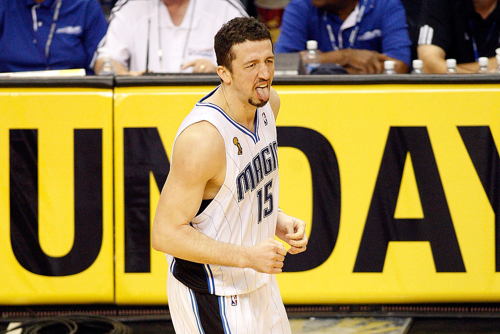 Hedo Turkoglu of the Orlando Magic reacts in the final minute of Game Four of the 2009 NBA Finals.