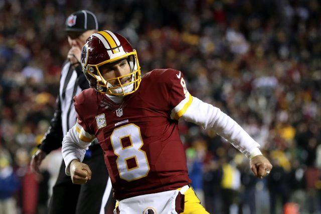 Kirk Cousins celebrates a touchdown.