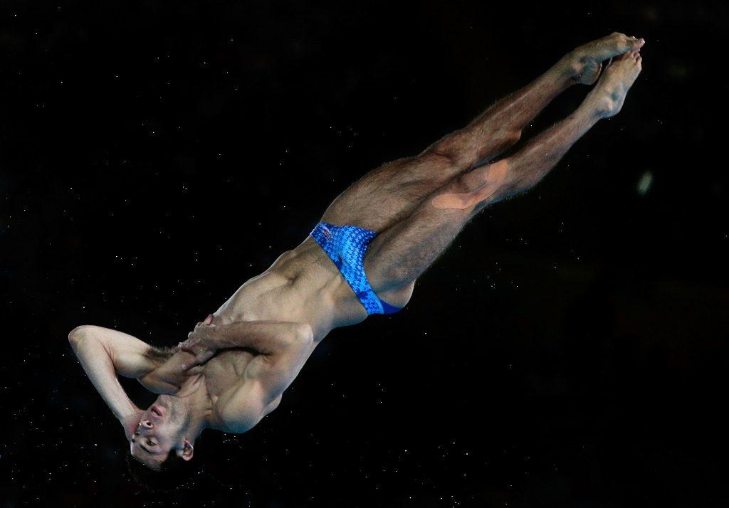 Nicholas McCrory of the United States competes in the Men's 10m Platform Diving Final on Day 15 of the London 2012 Olympic Games.