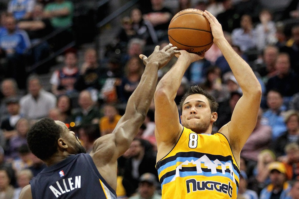 Danilo Gallinari puts up a shot.