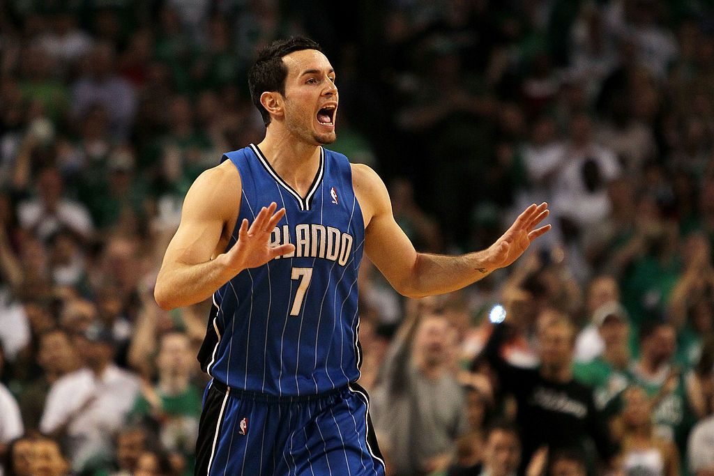 J.J. Redick reacts against the Boston Celtics in Game 4 of the 2010 Eastern Conference Finals.