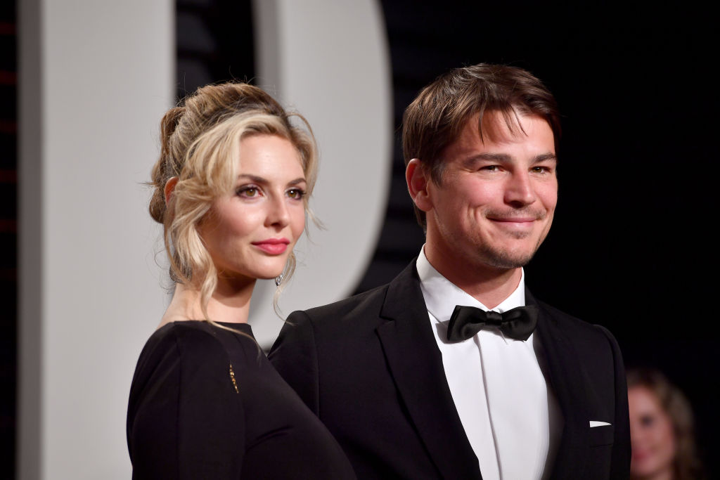 Actors Tamsin Egerton and Josh Hartnett attend the 2017 Vanity Fair Oscar Party.