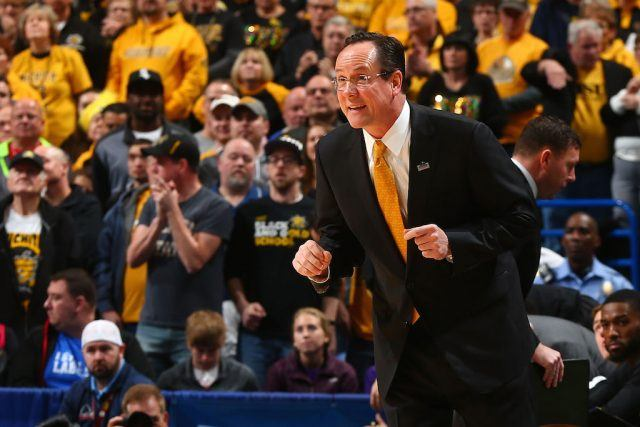 Wichita State's Gregg Marshall directs his players.