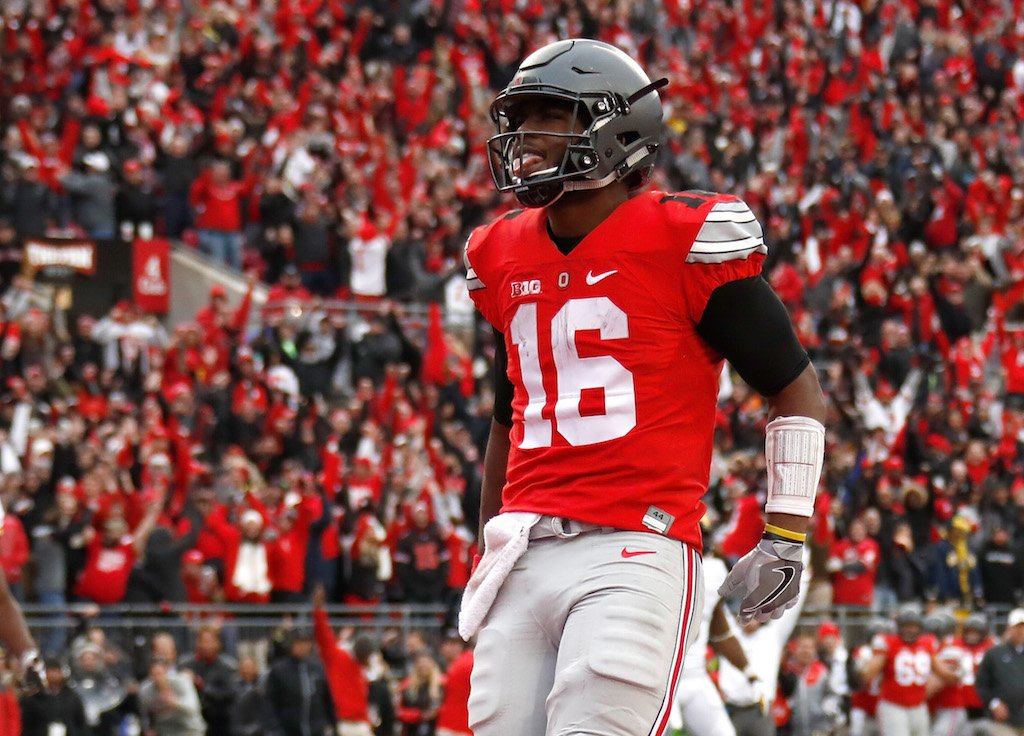 Ohio State's J.T. Barrett gets in the end zone.