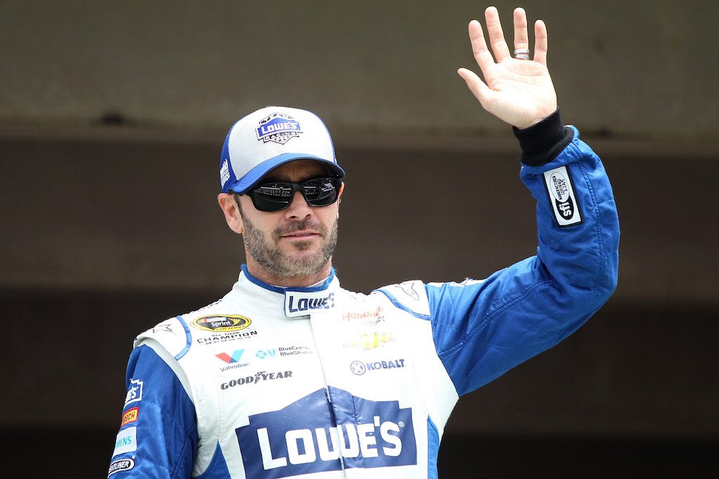 Jimmie Johnson is introduced.