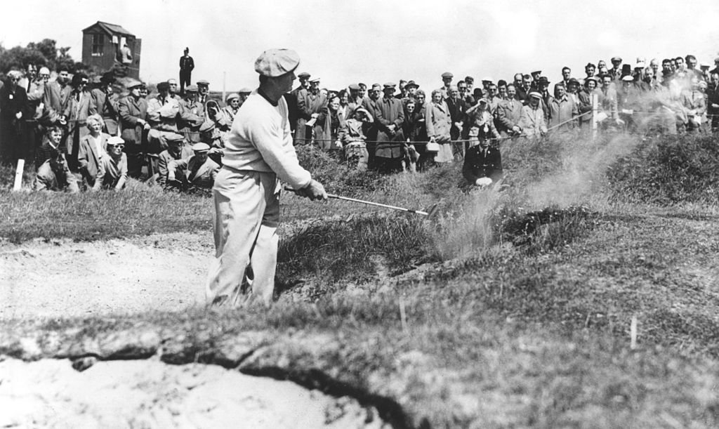 Jimmy Demaret plays out from a bunker.