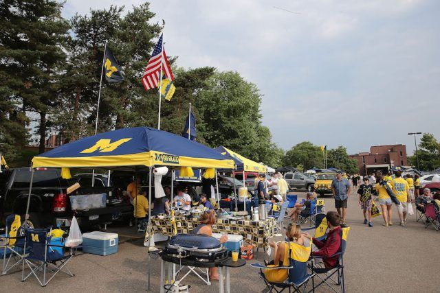 Michigan Wolverines fans know how to tailgate.