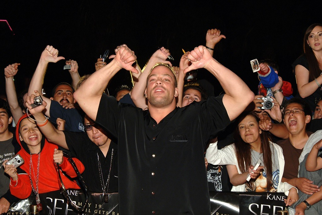 "Rob Van Dam, WWE Raw Superstar during ""See No Evil"" Premiere - Arrivals in Los Angeles, California, United States. (Photo by J.Sciulli/WireImage for LIONSGATE)"