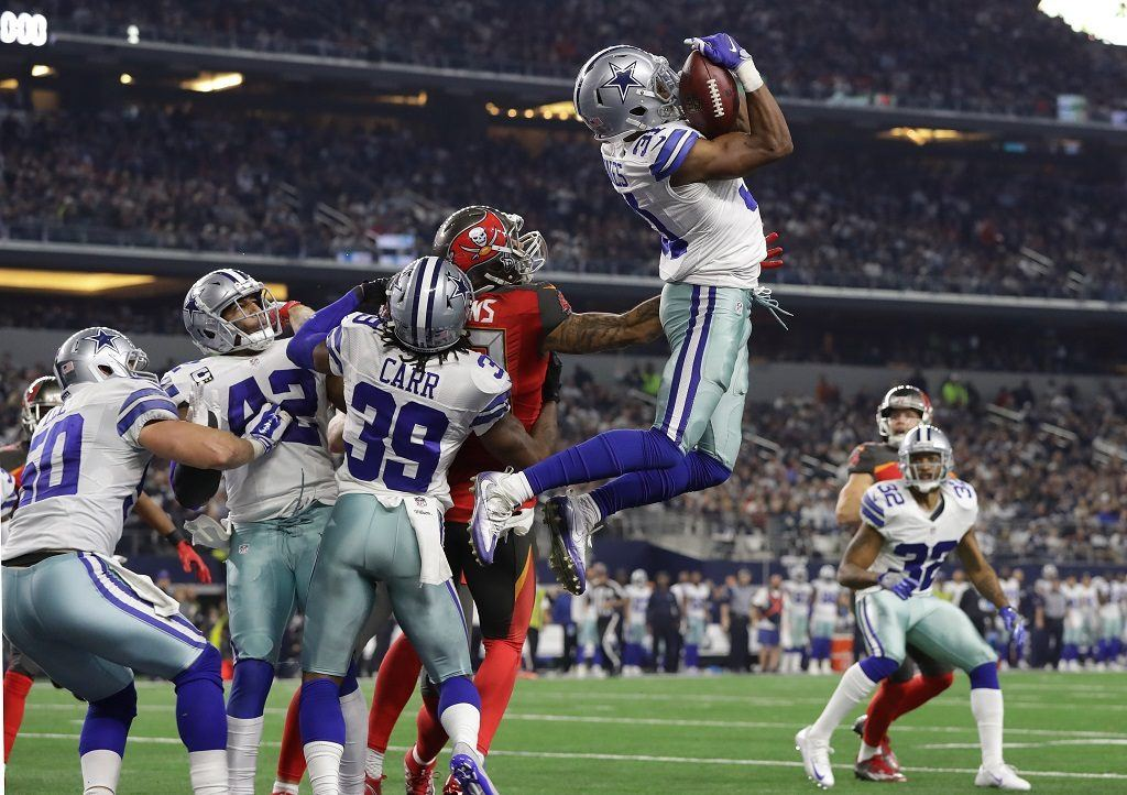 Byron Jones still puts those broad jump skills to the test for the Dallas Cowboys.