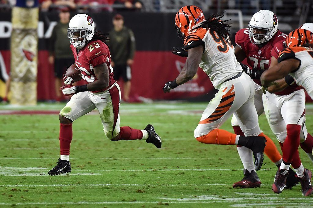 Chris Johnson shows off his record-setting running skills on a regular basis.