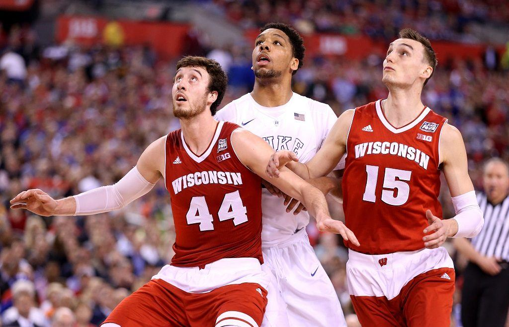 The Badgers established dominance with Sam Dekker and Frank Kaminsky on the court.