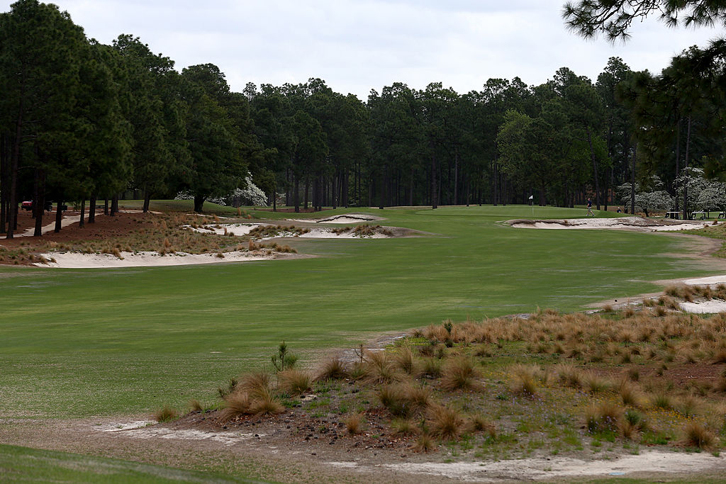 The 14th hole during the 2014 U.S. Open Preview Day at Pinehurst No. 2