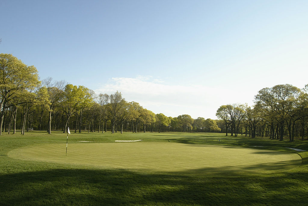 The ninth green at the Bethpage State Park Black course that hosted the 2002 U.S. Open