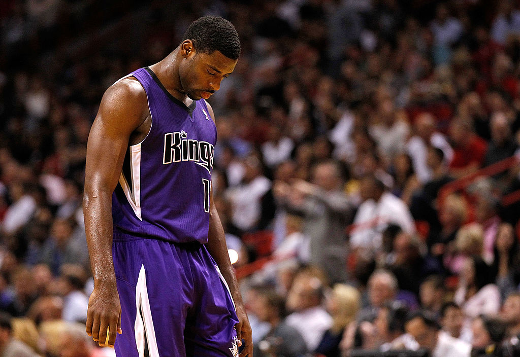 Tyreke Evans looks sad to be with the Sacramento Kings.
