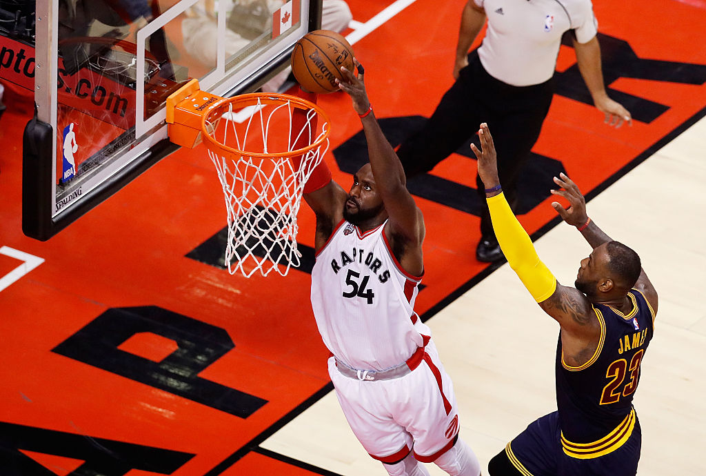 Patrick Patterson goes up for the dunk.