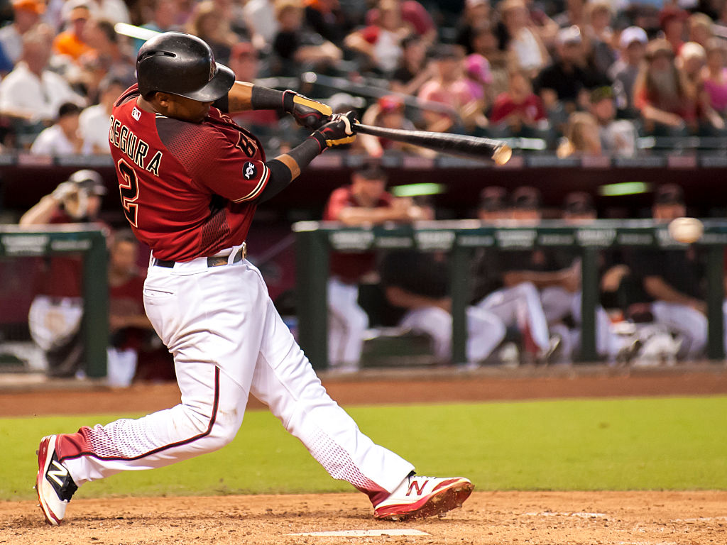 Jean Segura takes a big hack for the Diamondbacks.