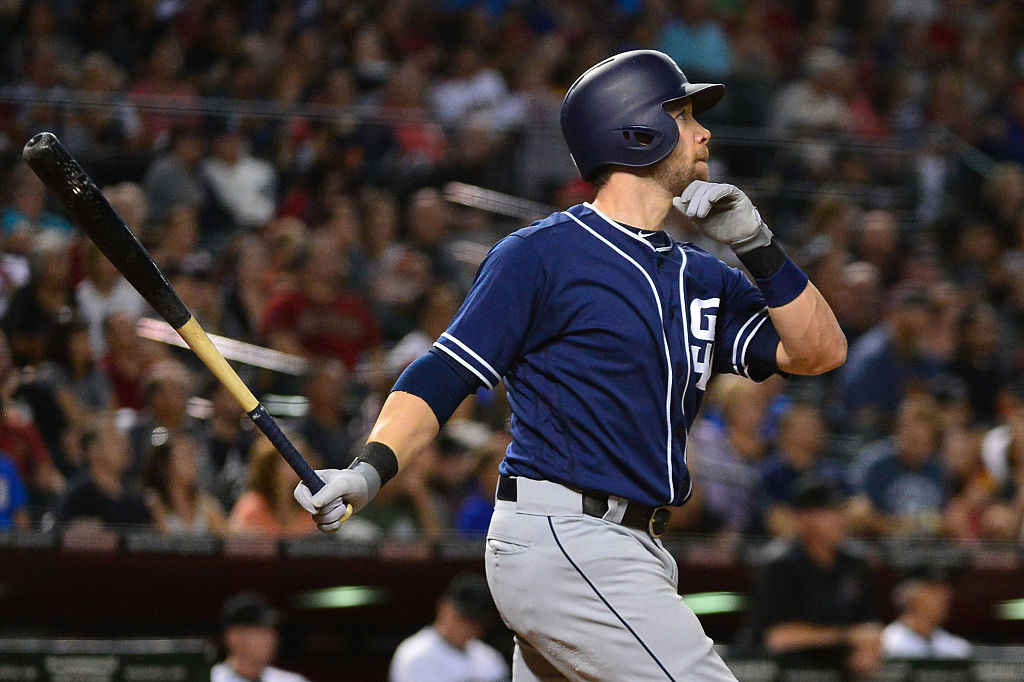 Ever heard of Ryan Schimpf? He apparently plays for the San Diego Padres.