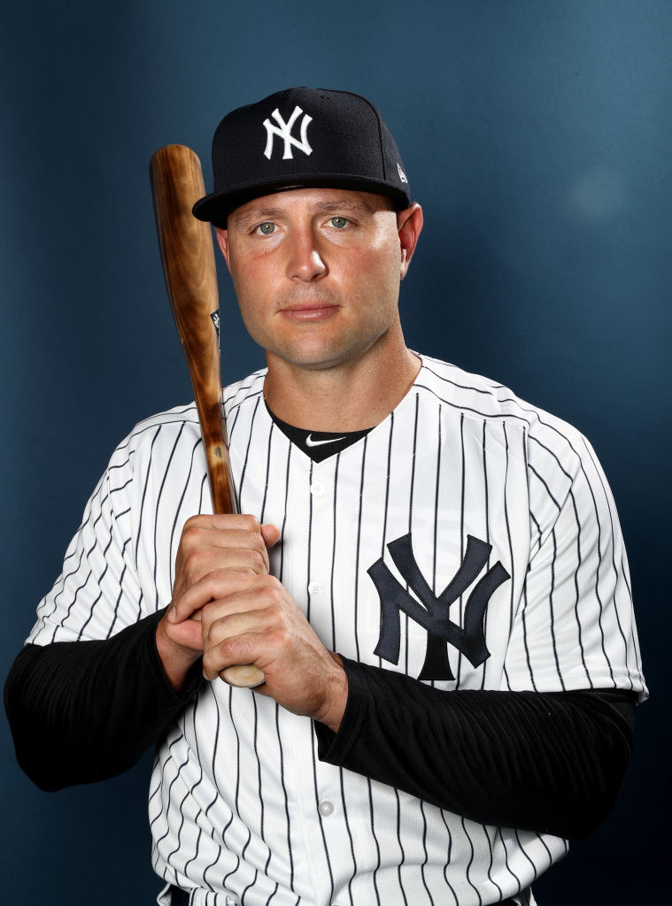 Matt Holliday of the New York Yankees poses for a portrait.