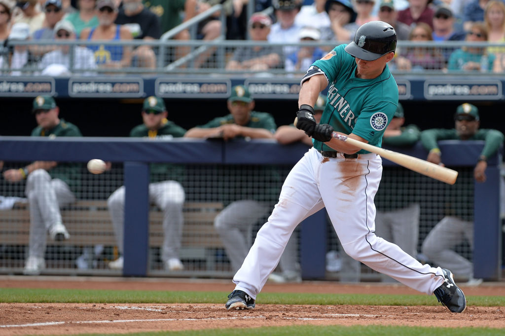 Kyle Seager takes a big swing.