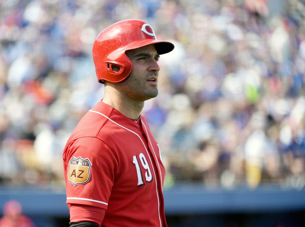 Joey Votto's bat is worth big bucks.