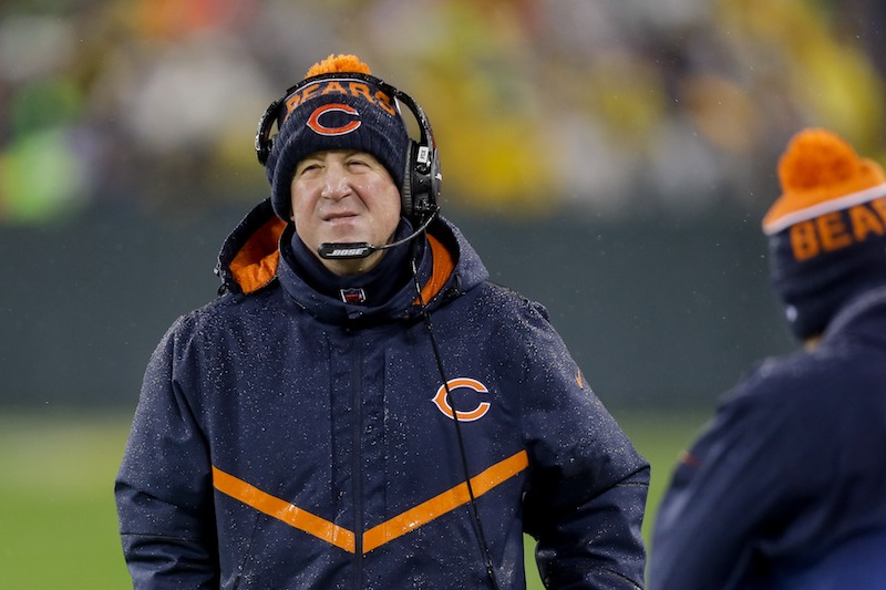 Chicago Bears head coach John Fox stands on the sideline during a game in 2016.