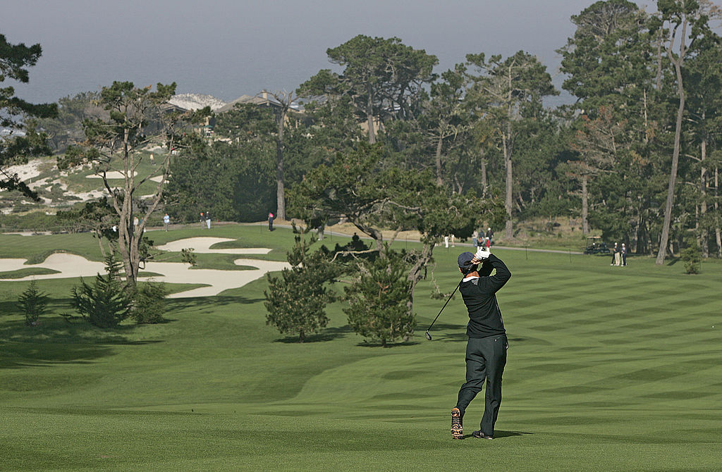 Mike Weir during the third round of the AT&T Pebble Beach National Pro-Am on Spyglass Hill Golf Course in Pebble Beach
