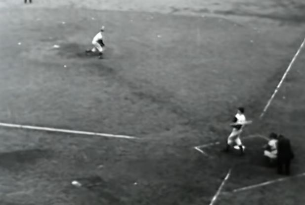 Bobby Thomson hits the pennant-clinching home run in 1951.