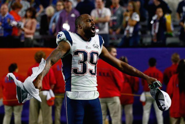 Brandon Browner celebrates a Super Bowl victory.