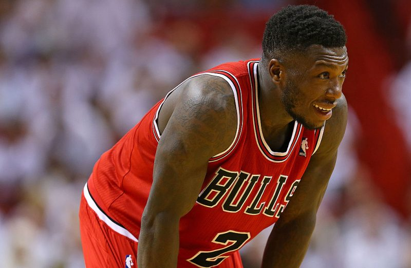 Nate Robinson takes a breather.