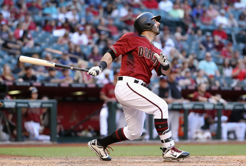 Daniel Descalso hits a rare home run.