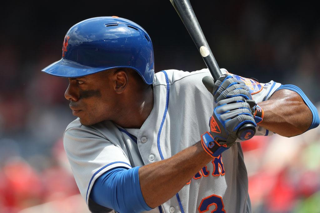 Curtis Granderson of the New York Mets prepares to bat.
