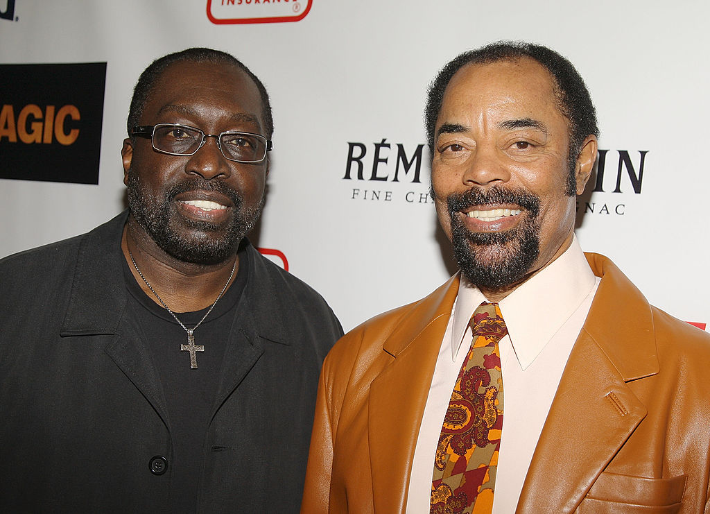 Walt Frazier and Earl Monroe of the 1973 Knicks pose for a picture.