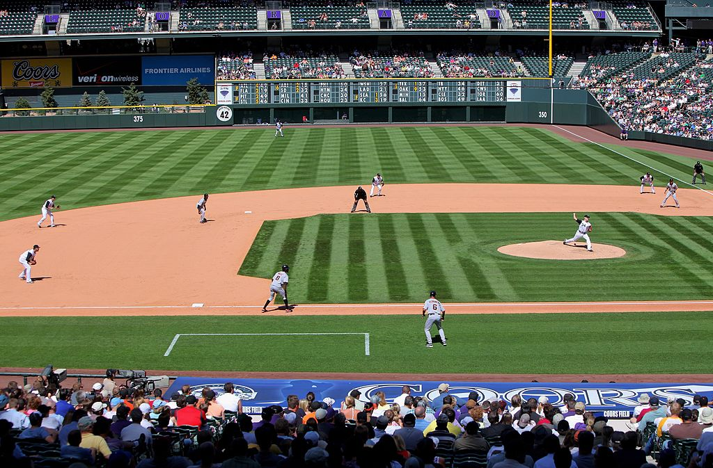 Teams compete at Coors Field.