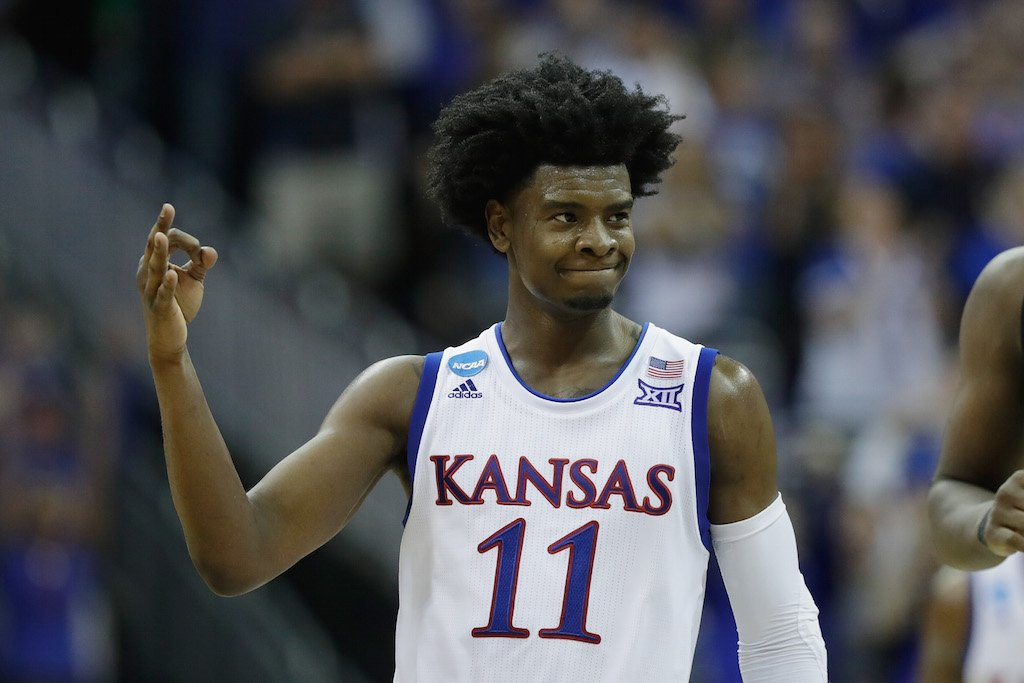 Josh Jackson reacts during a game against Purdue.